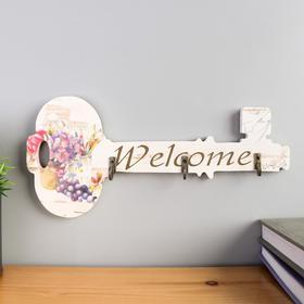 "Decorative tree hooks "" Key. Flowers "" 12x26x3 cm"