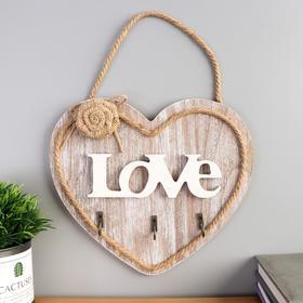"Decorative tree hooks ""Heart with rose"" 21x23, 5x3 cm"
