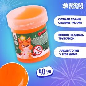 Слайм «Лисёнок», оранжевый, 40г