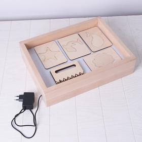 Sand drawing tablet with white illumination 30*40 cm + comb and stencil