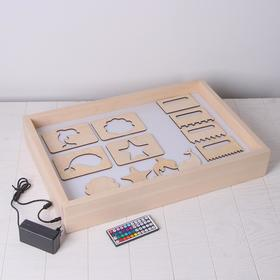Sand drawing tablet with color illumination 40*60 cm + comb and stencil