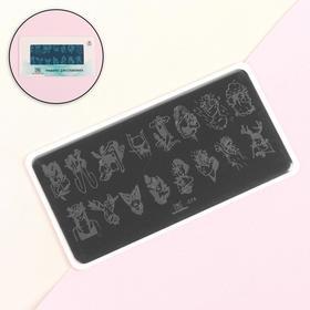 Stamping plate TNL Premium - women`s mood (074)