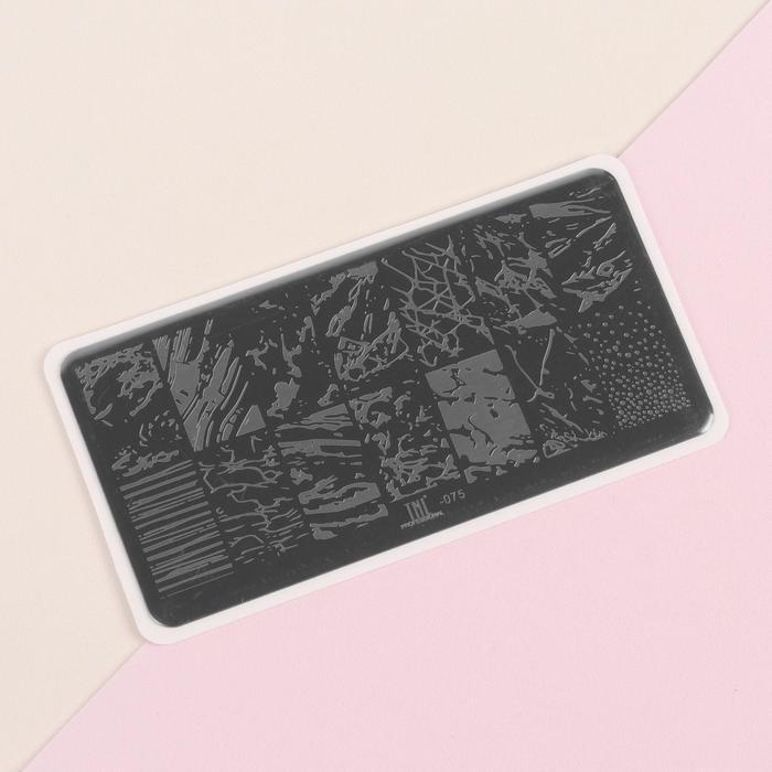 Диск для стемпинга металлический «Мрамор», 12 × 6 см - фото 282124197