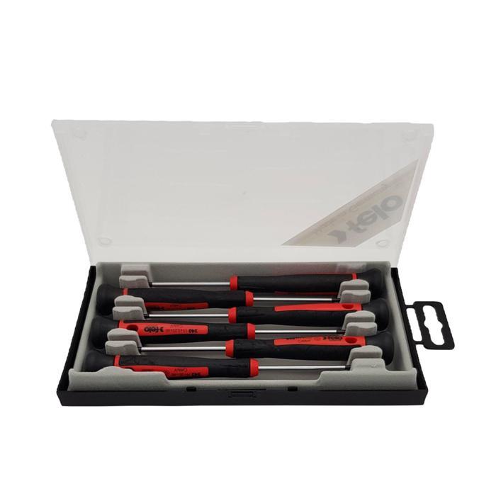 Набор отверток для точных работ Felo 24096156, РН00-0,SL1.5-2-2.5-3, 150/60 ММ, 6 шт.