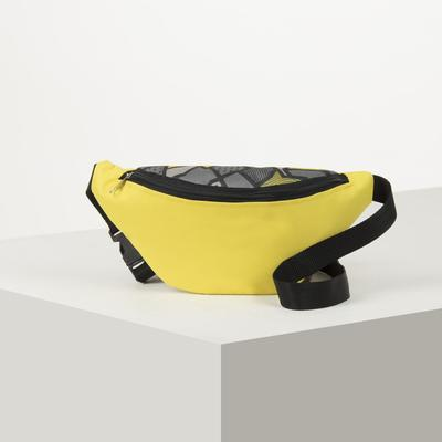 7985 P-600 / D waist Bag, 25*6*13, zippered otd, belt length, lemon / grey rhombus