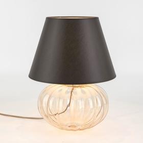 Настольная лампа Buduar, 1x60Вт E27, цвет янтарный