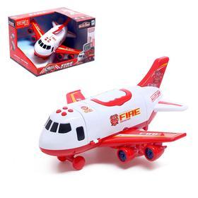 """Парковка """"Пожарный самолет"""", с машинками, свет и звук"""