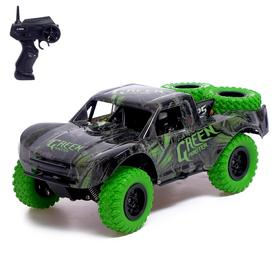 Car radio-controlled Short Course, 1: 20, 4WD four-wheel drive, battery operated, color green 50368