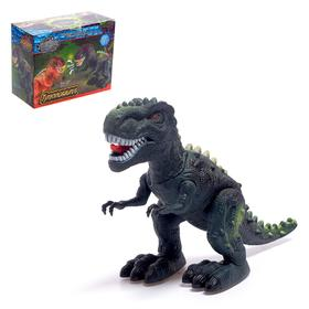 "Dinosaur ""Tyrannosaurus"", light and sound effects, powered by batteries"