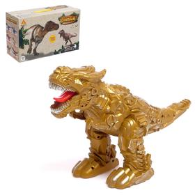 "Dinosaur robot ""Rex"", light and sound effects, powered by batteries"