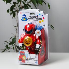 Генератор мыльных пузырей «Робот» красный 15х9,5х23 см