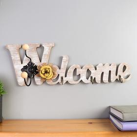 "Decorative tree hooks "" Welcome. Flower "" MIX 13, 5x40, 5x6 cm"