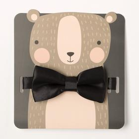 "Детский галстук-бабочка ""Мишка"" 5 х10 см, п/э"