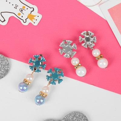 """Clip children """"Vibracula"""" snowflake with beads MIX color"""
