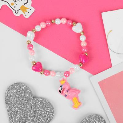 "Bracelet children's ""Vibracula"" flamingos, the color pink and white"