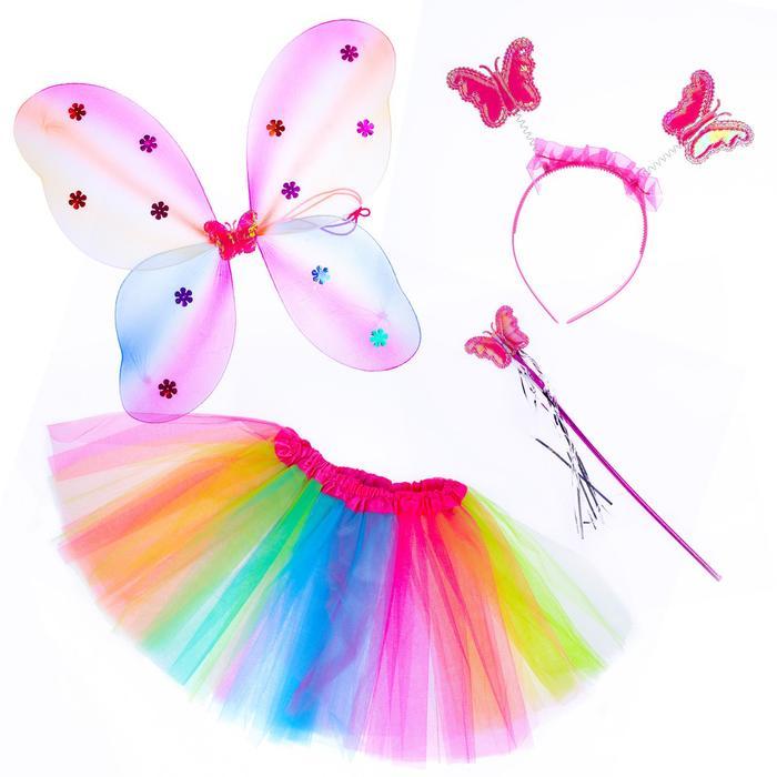 """Карнавальный набор """"Волшебница"""", 4 предмета: юбка, крылья, ободок, жезл - фото 105777805"""