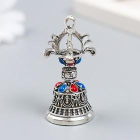 """Колокольчик металл """"Колокол императора"""" с цветными камешками d=2,7 см 5х2,7х2,7 см"""