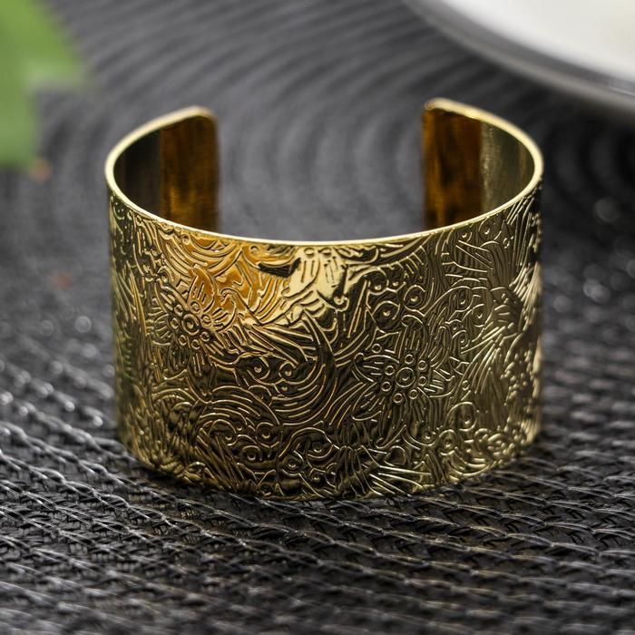 Кольцо для салфетки «Марокко», 4,8×3 см, цвет золото - фото 496163