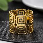 Кольцо для салфетки «Греческий», 4×3,5 см, цвет золотистый - фото 496167
