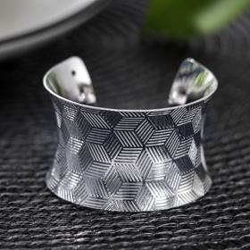 Кольцо для салфетки «Грани», 4×3,5 см, цвет серебряный