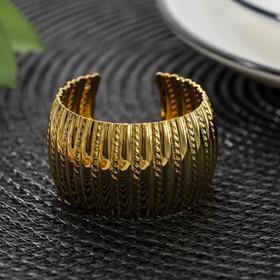 Кольцо для салфетки «Корона», 4,8×3 см, цвет золотистый