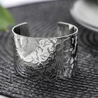 Кольцо для салфетки «Цветы», 5×3 см, цвет серебряный - фото 496176
