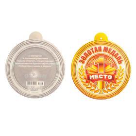 "Cardboard medal ""1st place"" 10 x 10 cm"