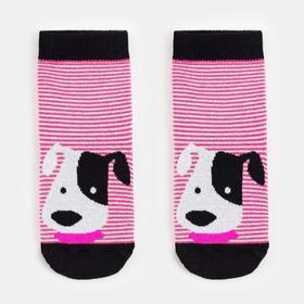 Носки детские, цвет розовый, размер 12
