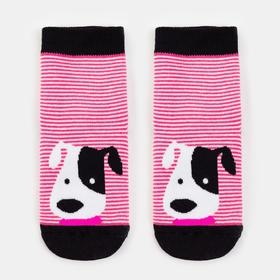 Носки детские, цвет розовый, размер 16