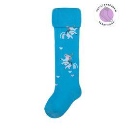 Колготки детские с махровым следом, цвет голубой МИКС, рост 92-98