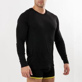 Лонгслив мужская (термо) цвет чёрный, размер 52, рост 176