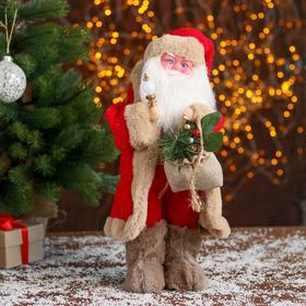 "Santa Claus ""In a red fur coat with gifts"" 22x40 cm"