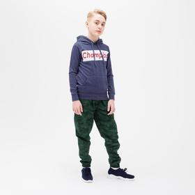 Брюки для мальчика, цвет милитари/пиксель, рост 98-104 см
