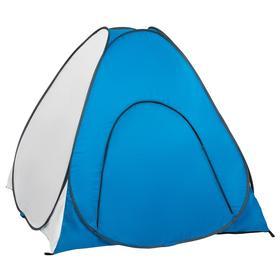 Палатка зимняя автомат, дно на молнии, 1,5 × 1,5 м, цвет белый/голубой