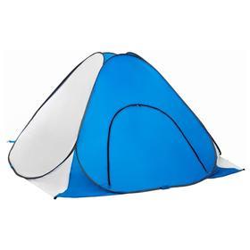 Палатка зимняя автомат, без пола, 1,8 × 1,8 м, цвет белый/голубой