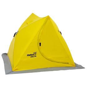 Палатка зимняя двускатная Helios DELTA, цвет yellow