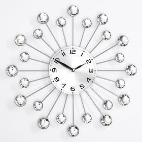 """Часы настенные, серия: Ажур, """"Лучики"""", плавный ход, 35 х 35 см, d=13 см"""
