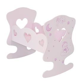 Кроватка-люлька Лаки, цвет Розовый Мини