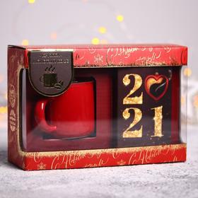 Подарочный набор «2021»: кружка 125 мл, кофе молотый 100 г