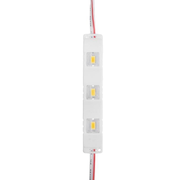 Светодиодный модуль SMD5630, 1.5 Вт, 3 LED, 135 Lm, линза 120 град, IP65, 3000К ,12V Т-БЕЛЫЙ
