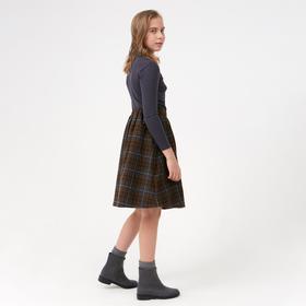 Юбка для девочки, цвет коричневый, 104-110 см (110)