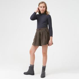 Шорты для девочки, цвет коричневый, 104-110 см (110)