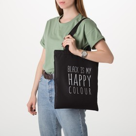 Сумка шоппер Black color 35х0,5х40 см, отд без молнии, без подкладки, цвет чёрный