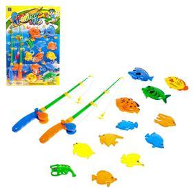 """Fishing """"Big fish"""" 12 fish, 2 fishing rods"""