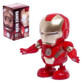 """Robot """"Dancing Hero"""", light and sound effects, powered by batteries"""