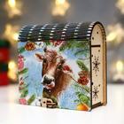 """The box-the book """"happy New year"""" 14х14х7,5 cm"""