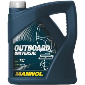 Масло моторное MANNOL 2T мин. Outboard Universal, 4 л