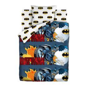 Постельное бельё 1,5 «Бэтмен» 143х215, 150х214, 70х70 см