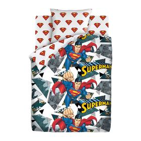 Постельное бельё 1,5 «Супермен» 143х215, 150х214, 70х70 см