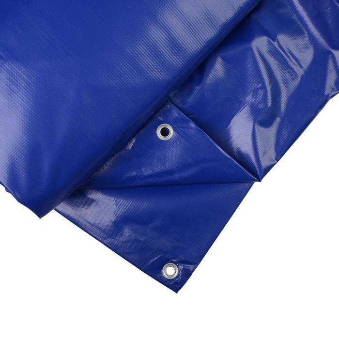 Тент ПВХ, 1 × 2,5 м, плотность 500 г/м², люверсы шаг 0,5 м, синий, утеплённый